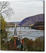 Harpers Ferry - Shenandoah Meets The Potomac Canvas Print