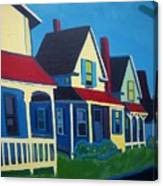 Harpswell Cottages Canvas Print