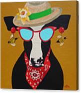 Harriet Honeybee Holstein Canvas Print