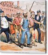 Harrison Cartoon, 1888 Canvas Print
