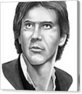 Harrison Ford - Hans Solo Canvas Print