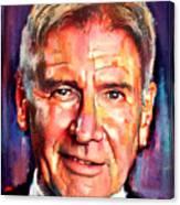 Harrison Ford Indiana Jones Portrait 2 Canvas Print