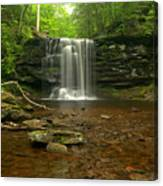Harrison Wrights Falls In The Forest Canvas Print