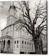 Harrisonburg, Rockingham County Courthouse, Virginia - Bw 1 Canvas Print