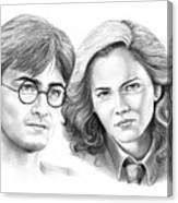 Harry Potter And Hermione Canvas Print
