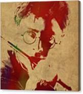Harry Potter Watercolor Portrait Canvas Print