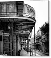 Harry's Corner In Black And White Canvas Print