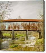 Harshaville Covered Bridge  Canvas Print