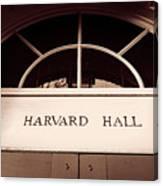 Harvard Hall #2 Canvas Print
