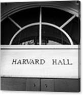 Harvard Hall Canvas Print
