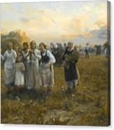 Harvest Festival By Alfred Wierusz-kowalski 1849-1915 Canvas Print