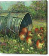 Harvest With Red Apples Canvas Print