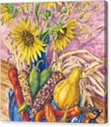 Harvest Meow Canvas Print