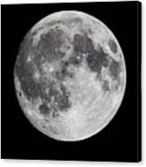 Harvest Moon At 99 Pct. Waxing Gibbous Canvas Print