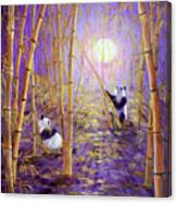 Harvest Moon Pandas  Canvas Print