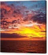 Harvest Sunrise In The Gulf  Canvas Print