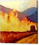 Harvest Time In Wyoming Canvas Print