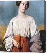 Harvester Holding Her Sickle Canvas Print