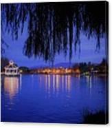 Harveston Lake At Night Canvas Print