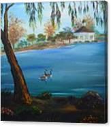 Harveston Lake Geese Canvas Print