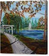 Harveston Lake Path Canvas Print