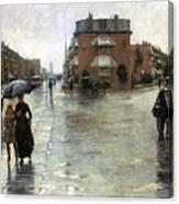 Hassam: Rainy Boston, 1885 Canvas Print