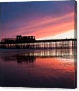 Hastings Pier - Purple Canvas Print