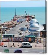 Hastings Pier Rebuild Canvas Print
