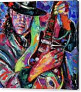 Hat And Guitar Canvas Print