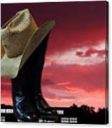 Hat N Boots 11 Canvas Print