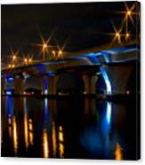 Hathaway Bridge At Night Canvas Print