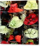 Hats In A Window Canvas Print