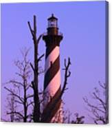Hatteras Light And Tree Canvas Print