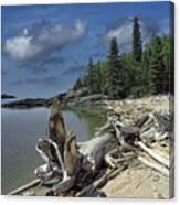 Hattie's Bay In Pukaskwa National Park Ontario Canvas Print
