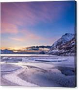 Haukland Sunset - Vertical Canvas Print