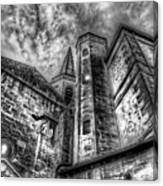 Haunted Church In Black And White Canvas Print