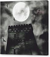 Haunted Dark Castle Canvas Print