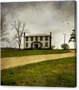 Haunted House On A Hill Canvas Print