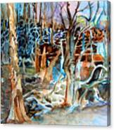 Haunted Swampland Canvas Print