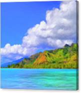 Hauru Point Moorea Canvas Print