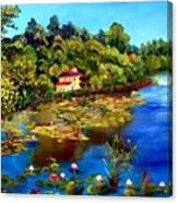 Hause By The Lake Canvas Print