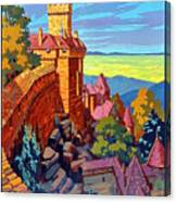 Haut Koenigsburg Castle, Alsace, France Canvas Print