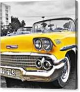 Havana Chevy Dreams  Canvas Print