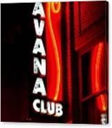 Havana Club At Night Canvas Print