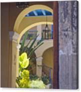 Havana Courtyard Canvas Print