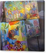 Havana Market Artwork Canvas Print