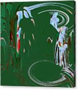 Having Green Tea Canvas Print