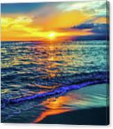 Hawaii Beach Sunset 149 Canvas Print