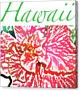 Hawaii Blush Canvas Print