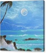 Hawaii Night Seascape Canvas Print